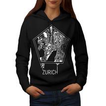 Zurich City Map Fashion Sweatshirt Hoody Town Big Map Women Hoodie - $21.99+