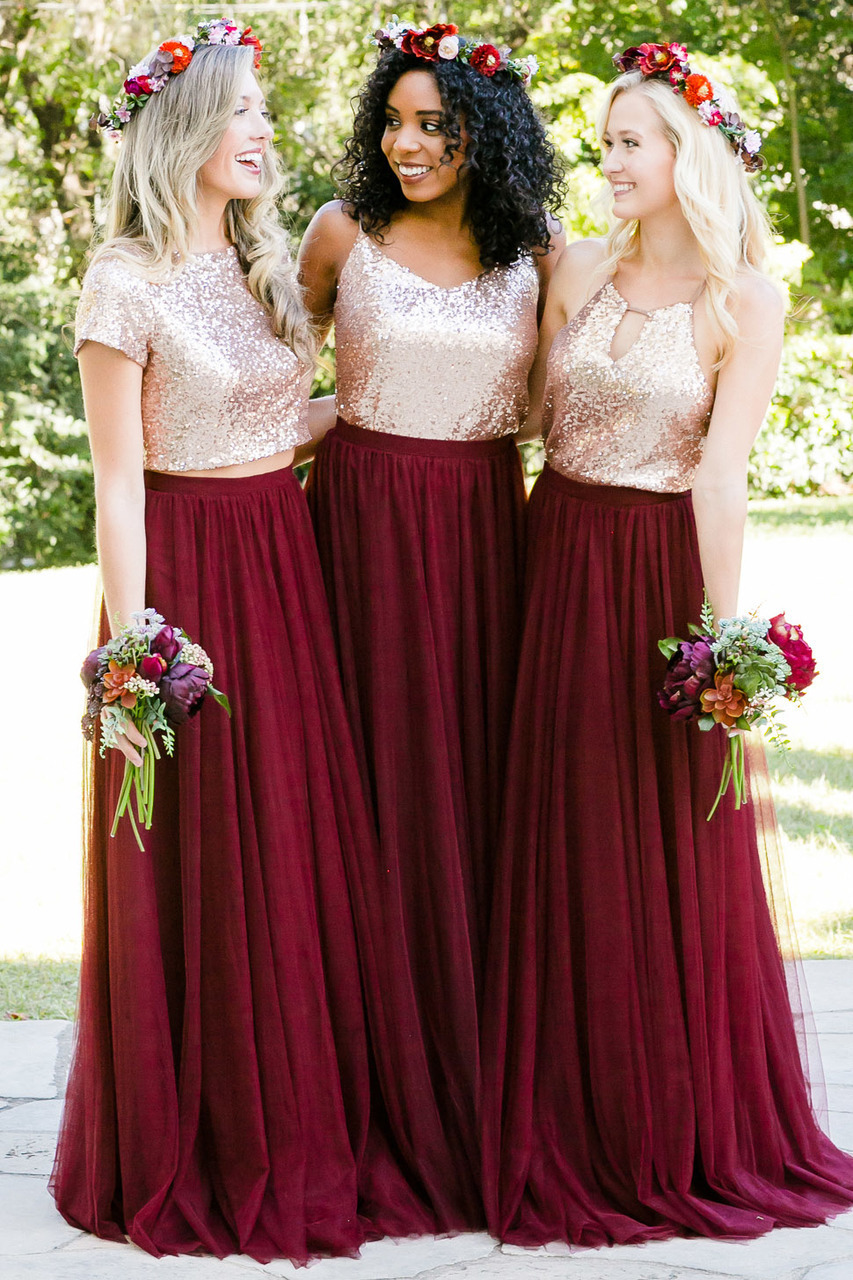 Burgundy tulle skirt 7