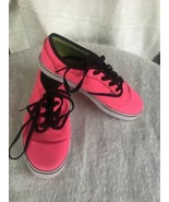 Vans Size 3 Classic Neon Pink Missy Era Lace Up Shoes Padded Tongue & Co... - $9.80