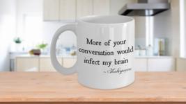 Shakespeare Mug Quote Funny Insult Mug Theater Literature Gift Cup Ceramic White - $14.65+