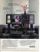 1986 Sony  The Access Audio/Video System 2 Page Magazine Print Ad Tina T... - $4.99