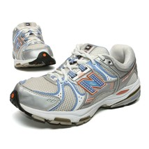 NEW BALANCE Women's Running Shoes Size 7D Silver and Blue Sneakers Arch ... - $26.50