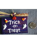 Trick-or-Treat Wood Halloween Sign Handmade NEW - $4.99