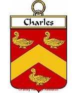 CHARLES French Coat of Arms Print CHARLES Famil... - $25.00
