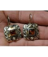 Vintage Silpada Natural Amber Southwestern Style Sterling Earrings - $51.43