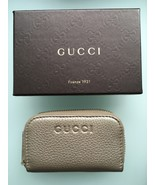 GUCCI Small Zip Around  Gold Metallic Wallet Coin Case - NEW - $187.11