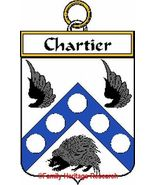 CHARTIER French Coat of Arms Print CHARTIER Fam... - $25.00