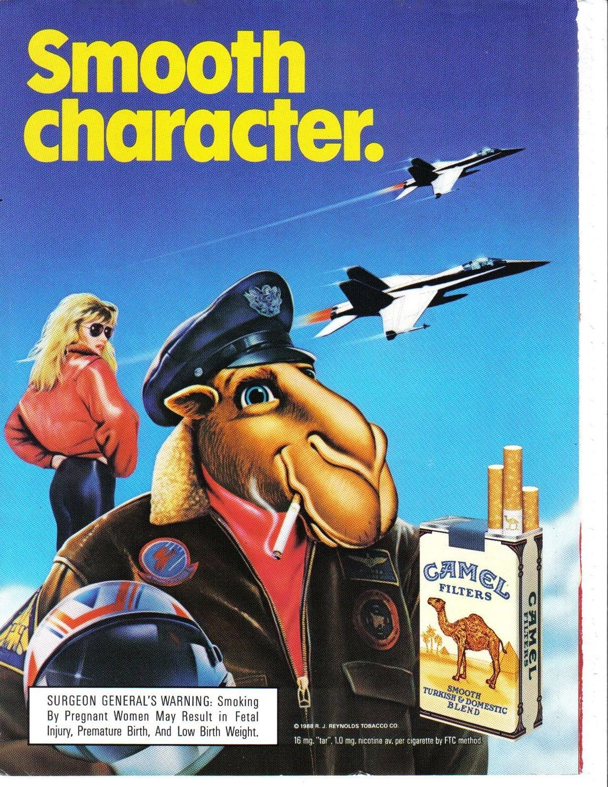 Primary image for Vintage 1988 Camel Cigarette Smooth Character Print Ad Near Mint