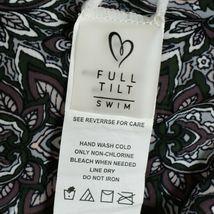 Full Tilt Swim Mauve Floral Paisley Pattern Swimsuit Bikini Bottom Size M image 3
