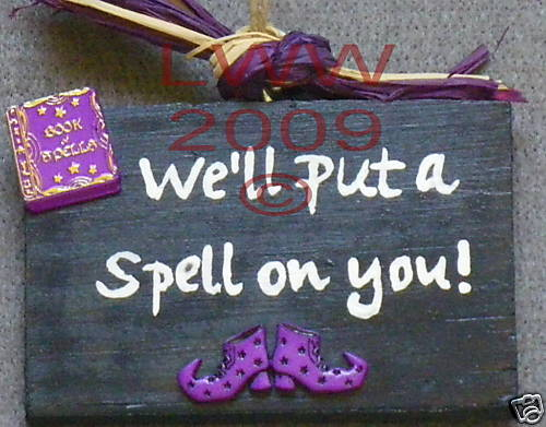 Put a Spell on You Wood Halloween Sign Handmade NEW