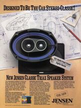 Jensen Triax Speaker System Full Page Color Print Ad 1985 Vintage Near Mint - $3.99