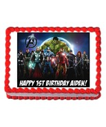 THE AVENGERS edible party cake topper decoration cake frosting sheet - $7.80