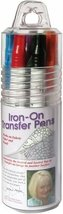 Iron-On Transfer Pens 8/Pkg-Blk, Blu, Brn, Red, Orn, Grn, Pur & Yel - $36.99