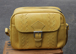 Vint American Tourister Yellow Carry-On Shoulder Bag + Box Keys 1976 Excellent - $90.25