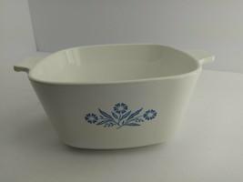 1 3/4 Qt. Casserole Corning P-1 3/4-B  Blue Cornflower Dish  No Lid (5B1) - $6.99