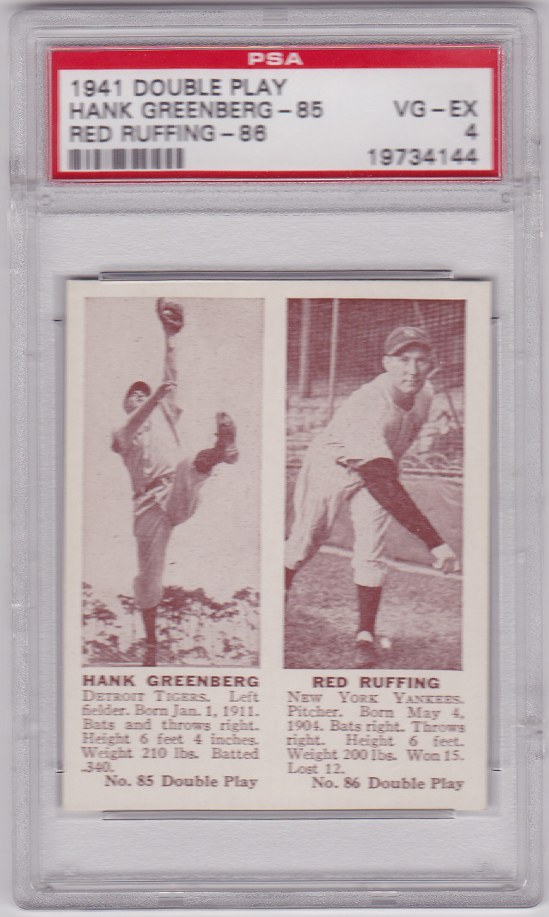 Primary image for Hank Greenberg 1941 Double Play #85-86 PSA 4 VG-EX