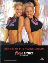 2002 Coors Light Here's To The Twins. Again.-  Magazine Print Ad - Origi... - $4.99