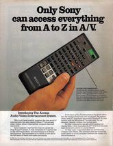 1986 Sony Vintage he Access Audio/Video  System 2 Page Magazine Print Ad - $7.69