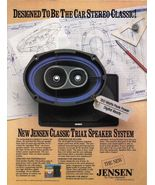 Vintage Jensen Triax Speaker System Full Page Color Print Ad 1985 Near Mint - $2.99