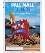 Vintage Pall Mall Cigarette The Taste Breaks Through  Print Ad 1988 Near... - $4.99