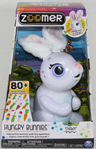 Spinmaster ZOOMER HUNGRY BUNNIES CHEWY White INTERACTIVE RABBIT Toy EAST... - $31.18