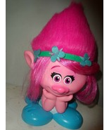 Troll Poppy Styling Station Head Pink Hair Salon Troll Movie Toy Doll - $17.77