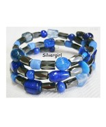 Colorful Hand Created Memory Wire Wrap Beaded Bracelet - $15.99