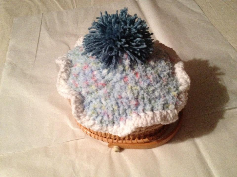 knit cupcake hat your color choice photography prop