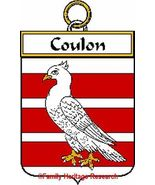 COULON French Coat of Arms Print COULON Family ... - $25.00