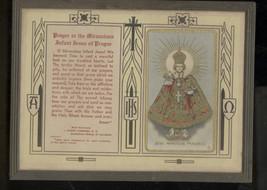 ANTIQUE PRAYER TO THE MIRACULOUS INFANT JESUS OF PRAGUE-JOSEPH SCHREMBS-... - $19.99