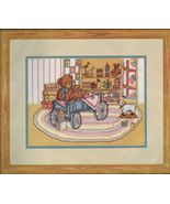"Bucilla  Grandma's Attic Bears Printed Counted Cross Stitch Kit 9"" x 12"" - $16.99"