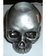 Silver Skull Tea Light Candle Holder-New! - $25.00
