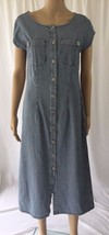 ISABELLA BIRD Jean Maxi Shirt Dress 8 Short Sle... - $29.05