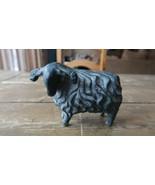 "Antique Cast Lead Sheep Ram Figure Paperweight 4.5"" - $51.98"