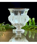 Lalique Dampierre Sparrows Vase in Mint Condition Signed Authentic Retai... - $321.75