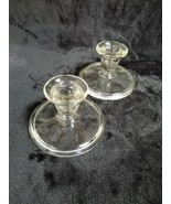 "Clear Glass Taper Candle Holders  2.75"" Tall - Set of 2 - $4.90"