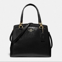 Coach MINETTA CROSSBODY Black Patent Crossgrain Leather F37837 - $139.99