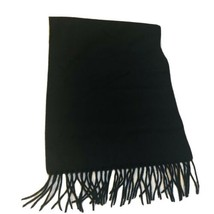 """Neiman Marcus Scarf 100% Cashmere Black 60""""x12"""" With End Fringe - $16.34"""