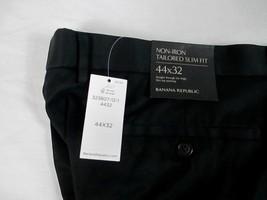 NWT Banana Republic Black Dress Pant Men Big & Tall 44x32 Flat Non Iron ... - $64.11