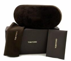 NEW TOM FORD SUNGLASSES EYEGLASSES LARGE BLACK VELOUR BOX CASE CLOTH DOC... - $45.82