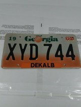 Georgia Dekalb License Plate XYD744 Atlanta Car Tag Peach - $19.79