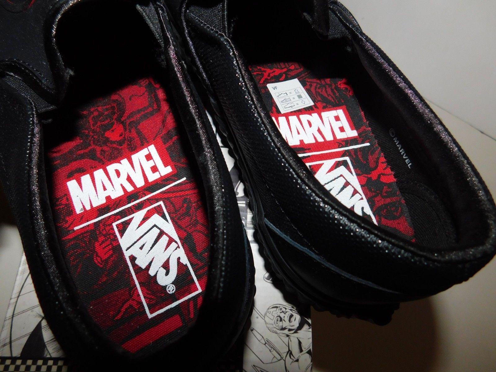 Vans Marvel Black Widow Slip On Men Size 7.5 Women Size 9 Brand New