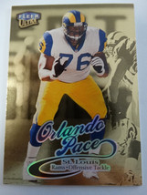 1999 Fleer Ultra #166G Orlando Pace St Louis Rams Gold Medallion Edition Card - $1.00