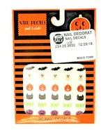 Nail Decals Peel & Stick! Halloween Girls Kids Fun Bat Ghost Pumpkin Cat... - $6.92