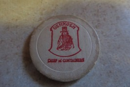 Chief Oshkosh Advertising Cardboard Token,Oshkosh Corrugated Box,Oshkosh Wis. - $14.25