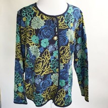 Isaac Mizrahi Live Limited Edition Size 3X Floral embroidered Jacket Snap Front  - $43.54