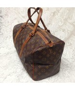 Louis Vuitton Brown Mono Speedy 35 Travel- Business Bag 9in x 15in x 7in - $375.20