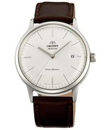 ORIENT  Bambino FAC0000EW automatic men's watch leather strap White dial  - $162.00