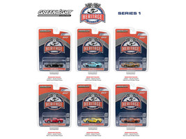 Ford GT Racing Heritage Series 1, 6pc Set 1/64 Diecast Model Cars by Greenlight - $52.78