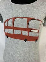 Burberry Brit Short Sleeve T Shirt Gray Bus Logo Women's Small - $49.99